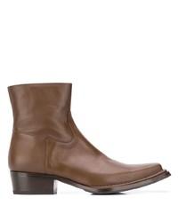 Мужские коричневые кожаные ботинки челси от Acne Studios