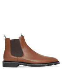 Мужские коричневые кожаные ботинки челси от Burberry