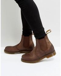 Мужские коричневые кожаные ботинки челси от Dr. Martens