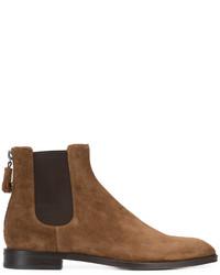 Мужские коричневые кожаные ботинки челси от Givenchy