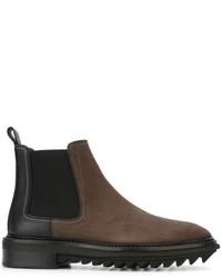 Мужские коричневые кожаные ботинки челси от Lanvin