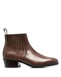 Мужские коричневые кожаные ботинки челси от Lemaire