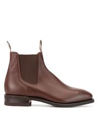 Мужские коричневые кожаные ботинки челси от R.M. Williams