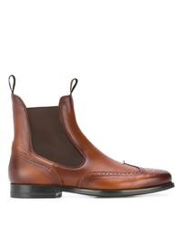 Мужские коричневые кожаные ботинки челси от Santoni