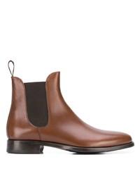 Мужские коричневые кожаные ботинки челси от Scarosso