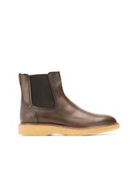 Мужские коричневые кожаные ботинки челси от Tod's