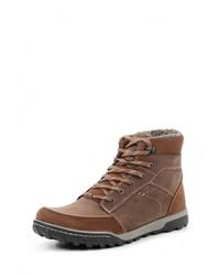 Мужские коричневые кожаные ботинки от Ecco