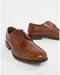 Коричневые кожаные броги от Burton Menswear