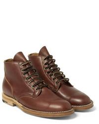 Мужские коричневые кожаные классические ботинки