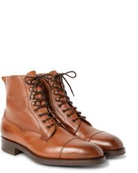 Мужские коричневые кожаные классические ботинки от Edward Green