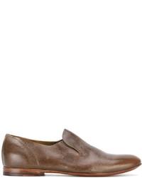 Мужские коричневые кожаные лоферы от Raparo