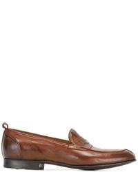 Мужские коричневые кожаные лоферы от Silvano Sassetti