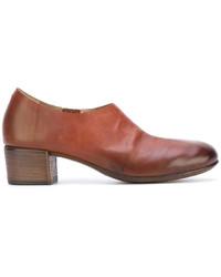 Коричневые кожаные массивные туфли