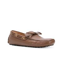 Мужские коричневые кожаные мокасины от Car Shoe