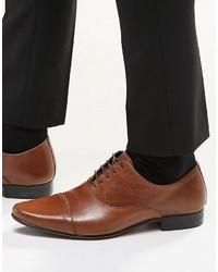 Мужские коричневые кожаные оксфорды от Asos