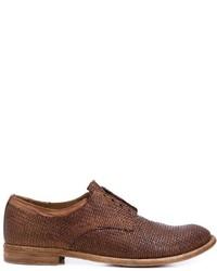 Женские коричневые кожаные оксфорды от Officine Creative
