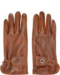 Мужские коричневые кожаные перчатки от Belstaff