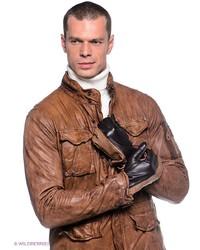 Мужские коричневые кожаные перчатки от Dali Exclusive