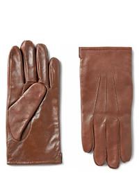 Мужские коричневые кожаные перчатки от J.Crew