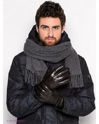 Мужские коричневые кожаные перчатки от Labbra