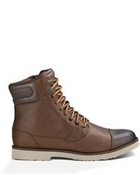 Коричневые кожаные повседневные ботинки