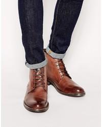 Мужские коричневые кожаные повседневные ботинки
