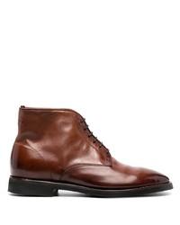 Мужские коричневые кожаные повседневные ботинки от Alberto Fasciani