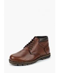 Мужские коричневые кожаные повседневные ботинки от Alessio Nesca