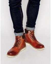 Мужские коричневые кожаные повседневные ботинки от Asos