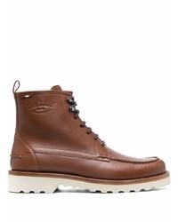 Мужские коричневые кожаные повседневные ботинки от Bally