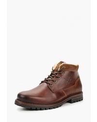 Мужские коричневые кожаные повседневные ботинки от Bata
