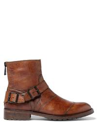 Мужские коричневые кожаные повседневные ботинки от Belstaff