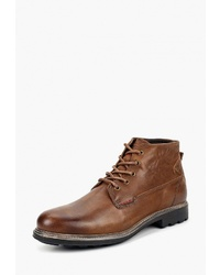 Мужские коричневые кожаные повседневные ботинки от Beppi