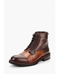 Мужские коричневые кожаные повседневные ботинки от BLT Baltarini