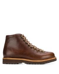 Мужские коричневые кожаные повседневные ботинки от Brunello Cucinelli