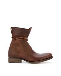 Мужские коричневые кожаные повседневные ботинки от C Diem