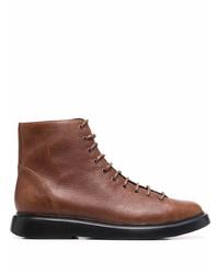 Мужские коричневые кожаные повседневные ботинки от Camper