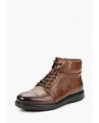 Мужские коричневые кожаные повседневные ботинки от Dino Ricci
