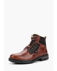 Мужские коричневые кожаные повседневные ботинки от El Tempo