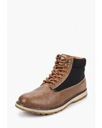 Мужские коричневые кожаные повседневные ботинки от Elong