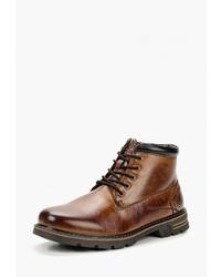 Мужские коричневые кожаные повседневные ботинки от Go.Do.