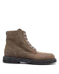 Мужские коричневые кожаные повседневные ботинки от Golden Goose