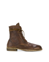 Мужские коричневые кожаные повседневные ботинки от Guidi