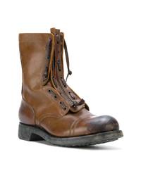 Мужские коричневые кожаные повседневные ботинки от Maison Margiela