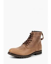 Мужские коричневые кожаные повседневные ботинки от Matt Nawill