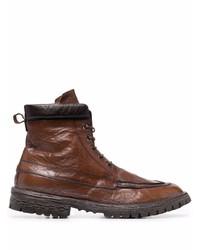 Мужские коричневые кожаные повседневные ботинки от Moma