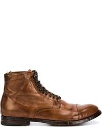 Мужские коричневые кожаные повседневные ботинки от Officine Creative