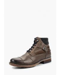 Мужские коричневые кожаные повседневные ботинки от Salamander