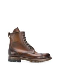 Мужские коричневые кожаные повседневные ботинки от Silvano Sassetti