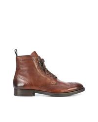 Мужские коричневые кожаные повседневные ботинки от To Boot New York